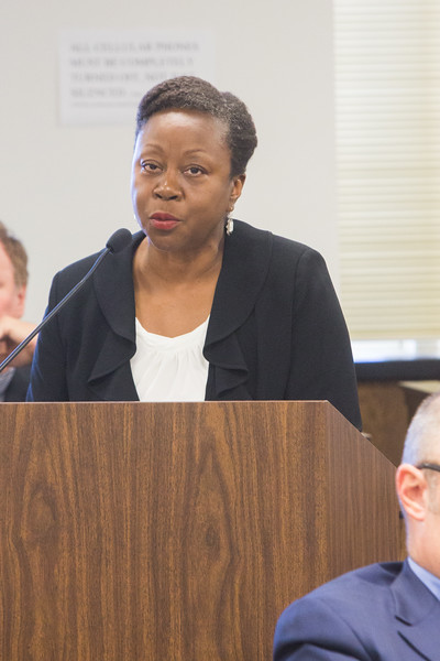 Attorney Judith Johnson during a case brought by PSO at Oklahoma Corporation Commision to explain how long it will take to refund customers.