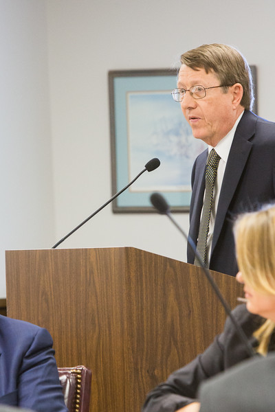 Jack Fite, attorney for PSO, during a case brought by PSO at Oklahoma Corporation Commision to explain how long it will take to refund customers.