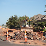 Road construction on NW 164th Street between May and Portland Ave. in Oklahoma City.