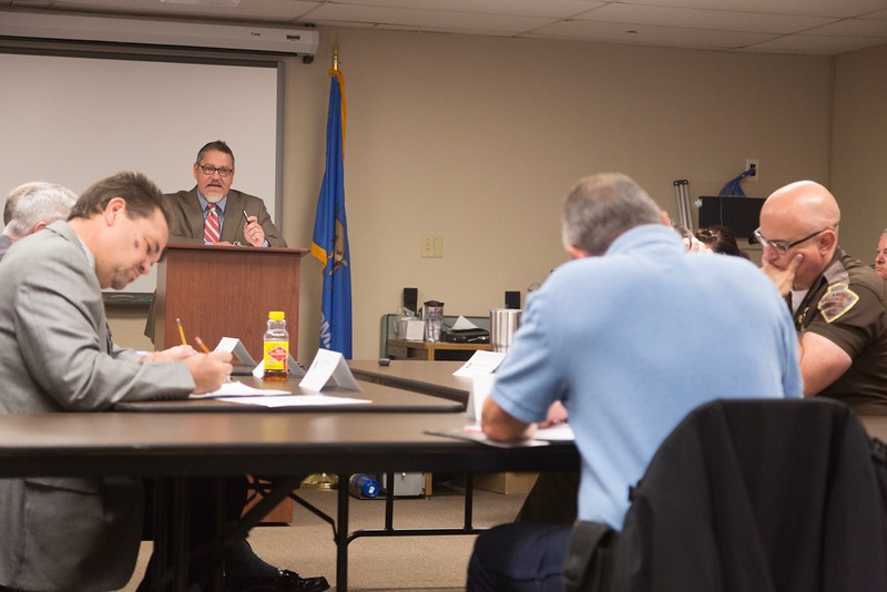 Kevin Behrens, director of the Board of Tests for Alcohol and Drug Influence, presents emergency rules to the board.