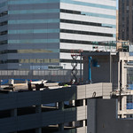 The new parking garage under construction next to the Bank of Oklahoma Building in downtown Oklahoma City.