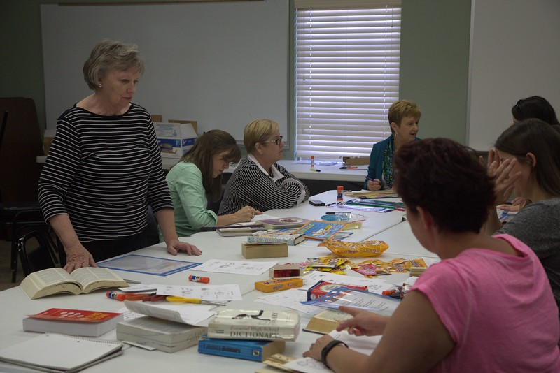 Teachers in training at Payne Education Center located at 10404 Vinyard Blvd in Oklahoma City.