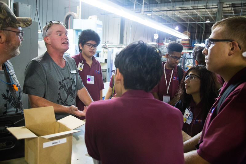 Students from Dove Science Academy visited Progressive Stamp, LLC located at 5500 E Reno in Oklahoma CIty.