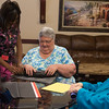 Residents at Tuscany Village Retirement Home in the Village, OK, make decorations for their upcoming Halloween Party.