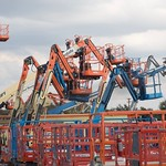 Boom lifts at United Rental located at 3101 S I-35 Service Road in Oklahoma City.