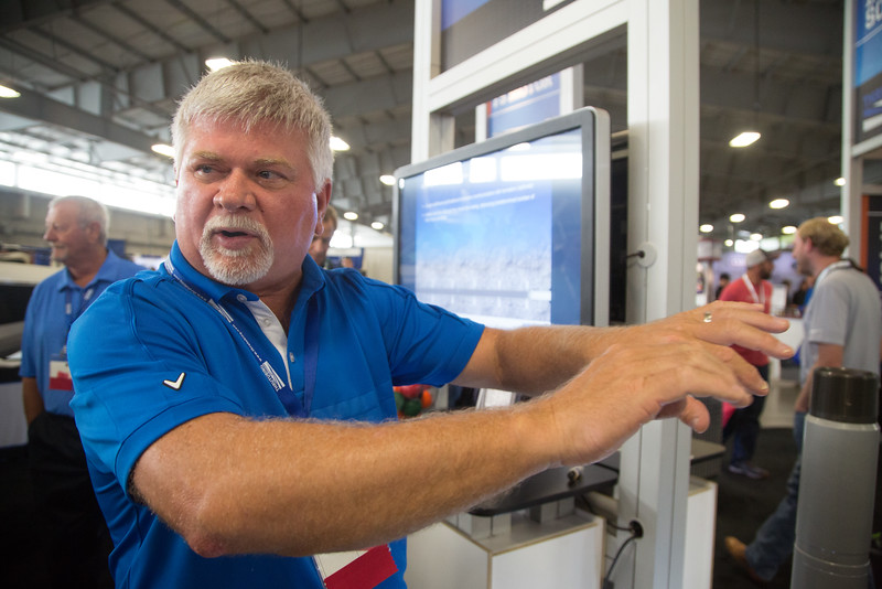 Cliff McKaughan with Thru Tubing Solutions at the Oil and Gas Expo held at the Oklahoma State Fairgrounds.
