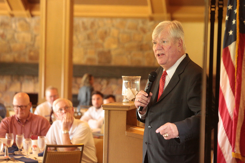 Dr. Ted Jones, Stewart Title Chief Economist, speaking to the Edmond Realtors Association.