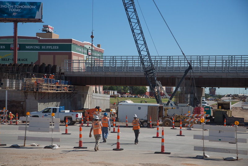 Construction of Oklahoma Boulevard that will previouse path of I-40 through downtown Oklahoma CIty.