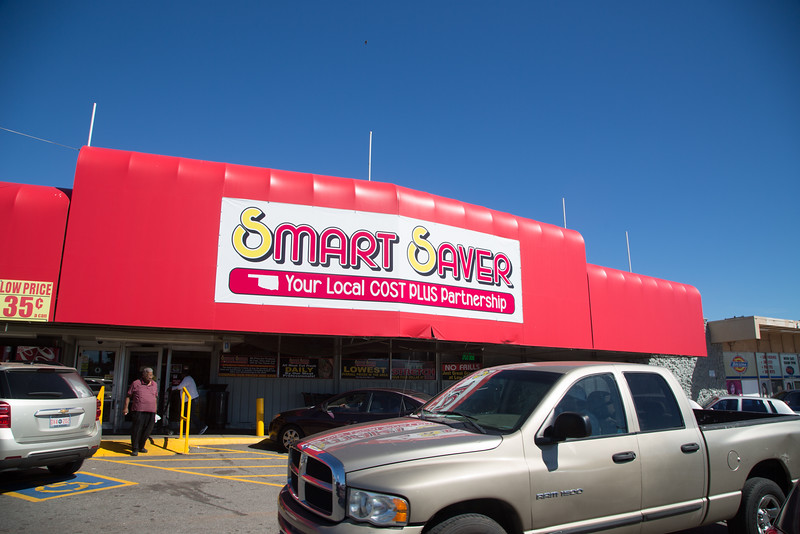 Smart Saver grocery store located at NW 23rd Street and Martin Luther King Ave. in Oklahoma CIty, OK.
