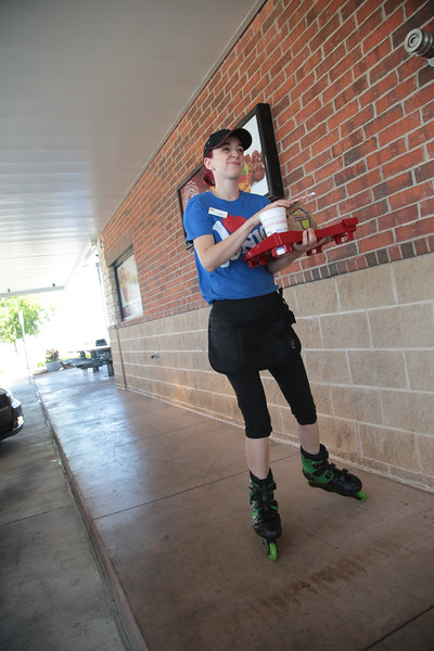Erin Fisher delivers orders at Sonic Drive In located at 3450 W Tecumseh Road in Norman, OK.