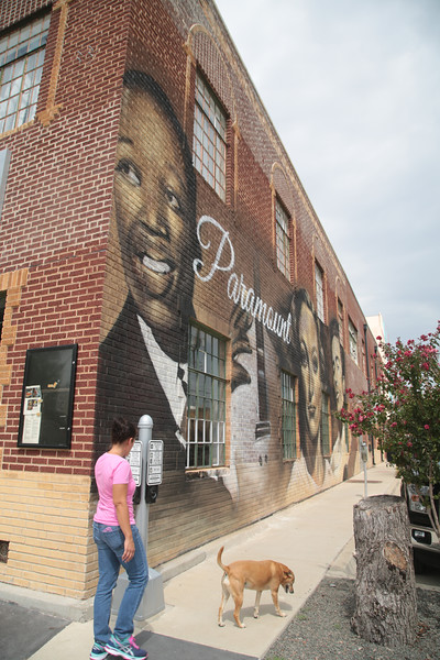 A mural painted on the east side of the Paramount Building in Oklahoma City was painted with out the approval of DDRC.