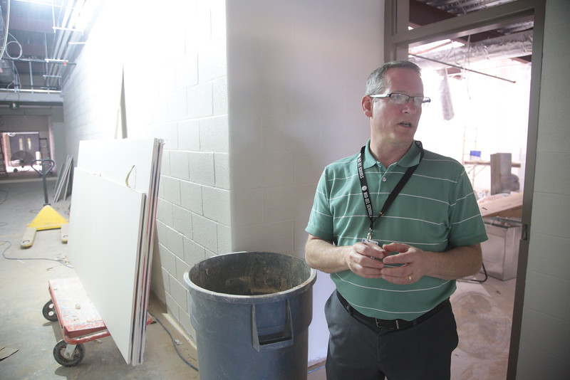 Midwest City-Del City Superintendent Rick Cobb walks through an unfinished classroom at Parkview Elementary. Like several other districts, Mid-Del used lease revenue bonds to finance construction, but critics have said lease revenue bonds are risky and might be unconstitutional.