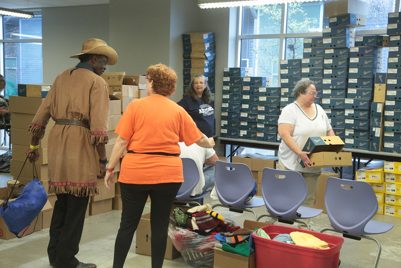 The Homeless Alliance, located at 1725 NW 4th Street in Oklahoma City, held a veterns only day included new boots, dental care, medical care and haircuts.