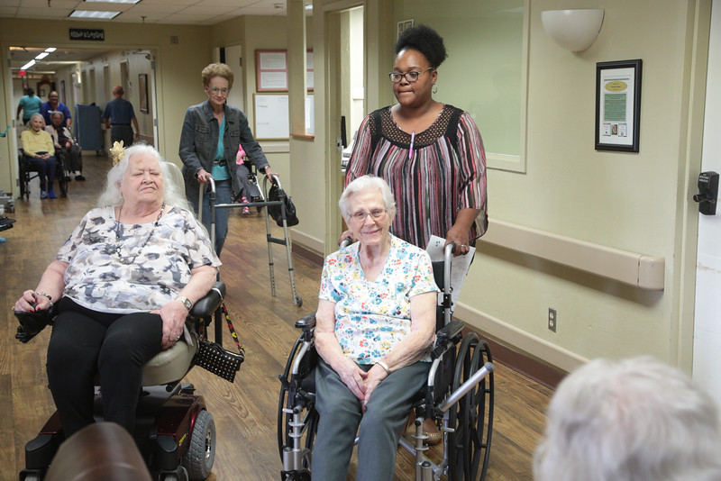 Residents at Bradford Village nursing home located at 906 N Boulavard in Edmond, OK.