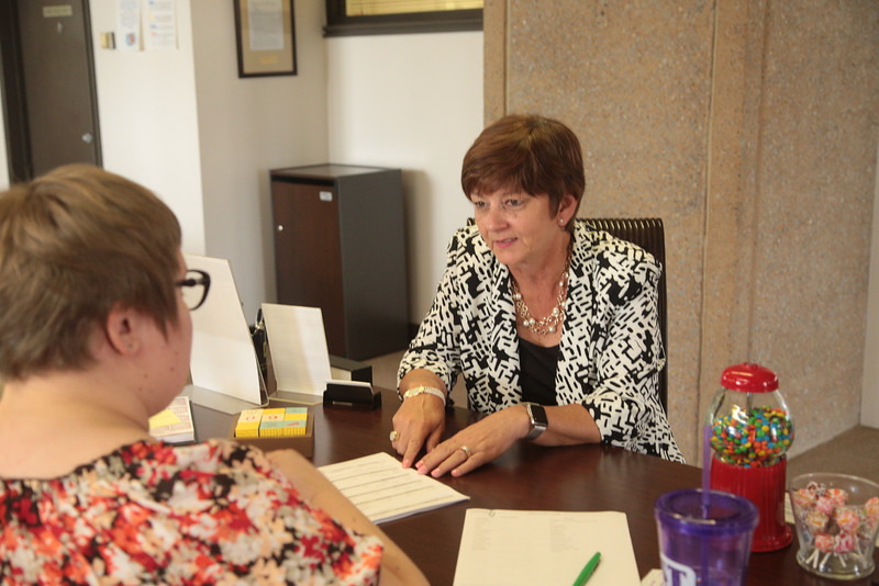 Jane Haskin, president of First Bethany Bank and Trust located at 6500 W 39th Expressway in Bethany, OK.