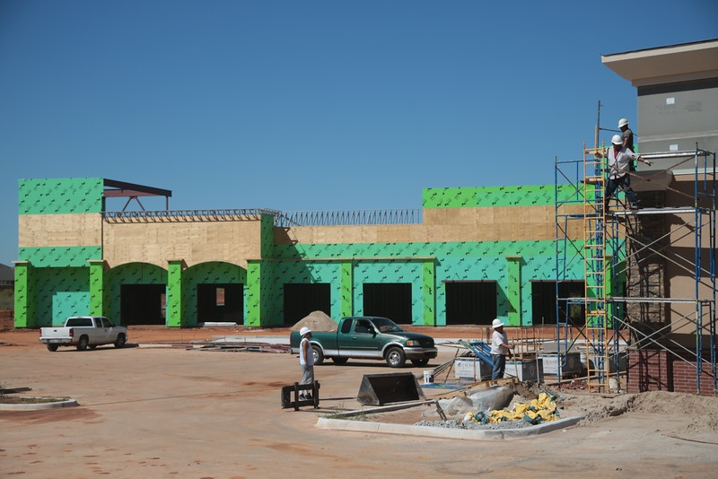 Construction of a new shopping center at the noryhwest corner of 150th Street and Pennsylvania Ave. in Oklahoma City, OK.