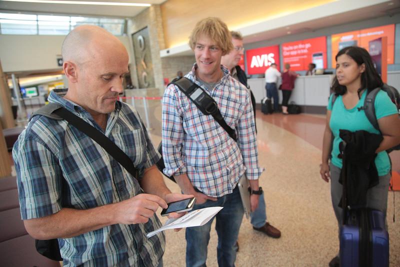 Dan McNamara with the USGS arrived to Oklahoma Will Levanfoeski, Anji Shah and Chuck Mueller following a 5.6 magnitude earthquake in Pawnee.