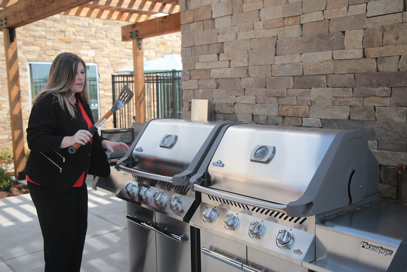 Linsey Kennedy, General Manager of Best Western Plus, prepares for the hotels open house at 3100 Medical Park Place in Norman, OK.