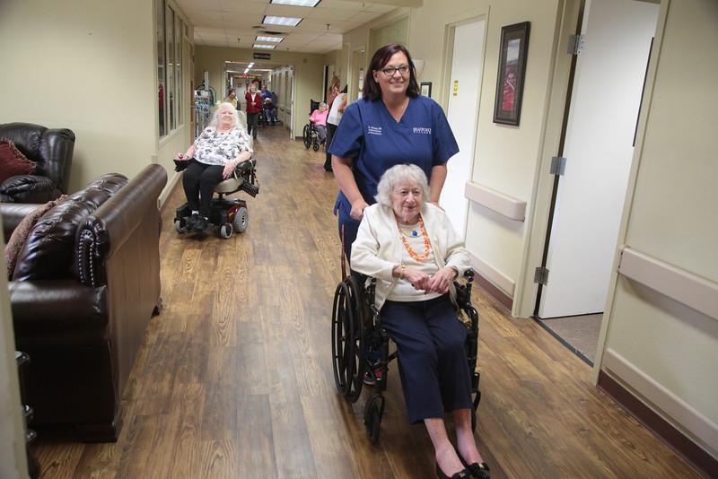 Residents at Bradford Village nursing home located at 906 N Boulavard in Edmond, OK.