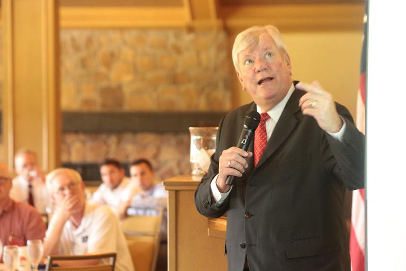 Dr. Ted Jones, Stewart Title Chief Economist, speaking to the Edmond Realtors Association.