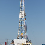 A drilling rig operated by Unit Drilling near Tuttle, OK.