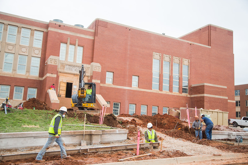 Page Woodson school renovation includes saving the auditorium as well as classrooms converted into apartments. The school is located at 600 N High Ave. in Oklahoma City, OK.