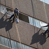 Window washers at Continental Resources located in downtown Oklahoma City.