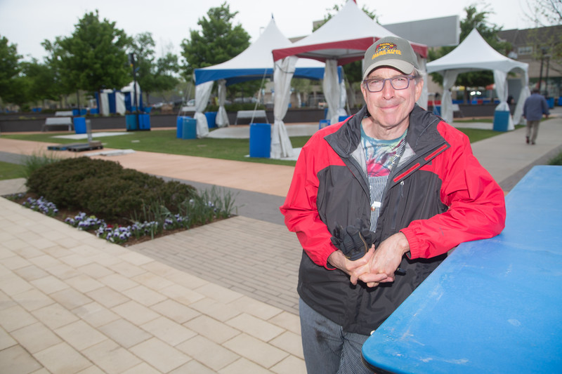 Peter Dolese, Executive Director of the Arts Council of Oklahoma City, oversees setup of the 2017 Festival of the Arts held at Bicentinial Park in Oklahoma City.