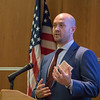 Chad Knapp with the Federal Buraeu of Investigation's Oklahoma City Office spoke about global cyber security threats at the Oklahoma World Trade Conferance hosted by the Miender's School of Business at Oklahoma City University.