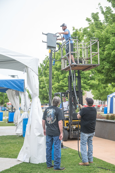 Preperation for the 2017 Festival of the Arts is underway at Bicentinial Park in Oklahoma City.