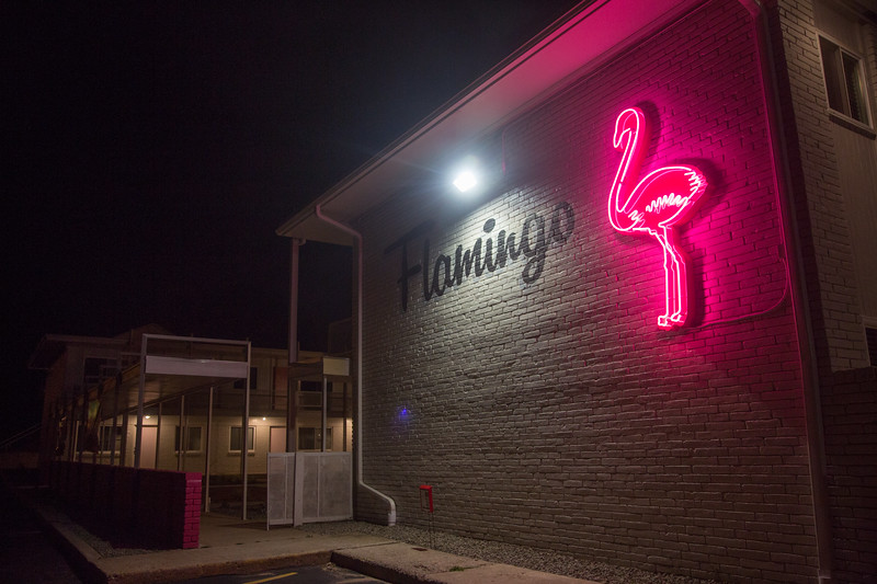 The Flamingo Apartments across from Oklahoma City University in Oklahoma City, OK.