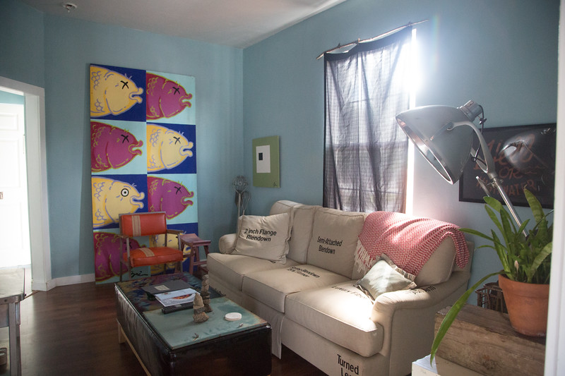 A rental space located above Sara Sara Cupcake in downtown Oklahoma City that is rented through Air BnB.