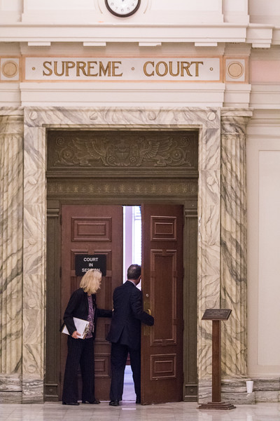 Oral arguments for lawsuites steming from this year's budget bill were heard by the Oklahoma Supreme Court at the State Capitol in Oklahoma City.