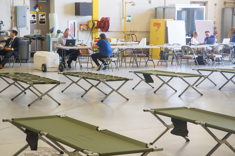 Medical providers have cordinated with Metro Tech Aviation Campus at Will Rogers Airtport in Oklahoma City to prepare for patients from Hurricane Harvey that made land fall in southern Texas.