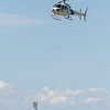 A U.S. Customs and Border Patrol helicopter landing at C.E. Page Airport in El Reno, OK.