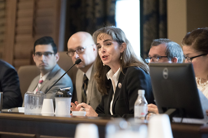 Oklahoma State Labor Commisioner Melissa Houston held a meeting at the state capitol to discuss the impacts of state liscening.