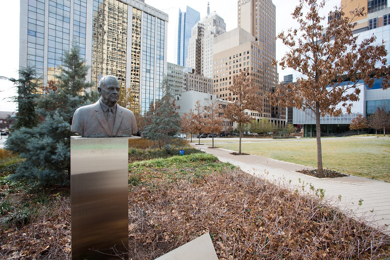 Kerr Park located at Broadway and Robert S Kerr Ave in Oklahoma City, OK.