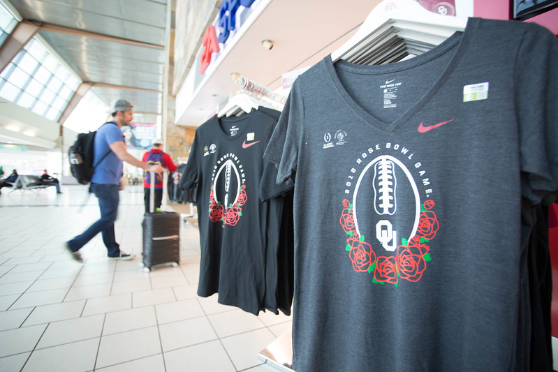 Will Rogers World Airport in Oklahoma City has added flights to Los Angeles to hadle traffic to the Rose Bowl.