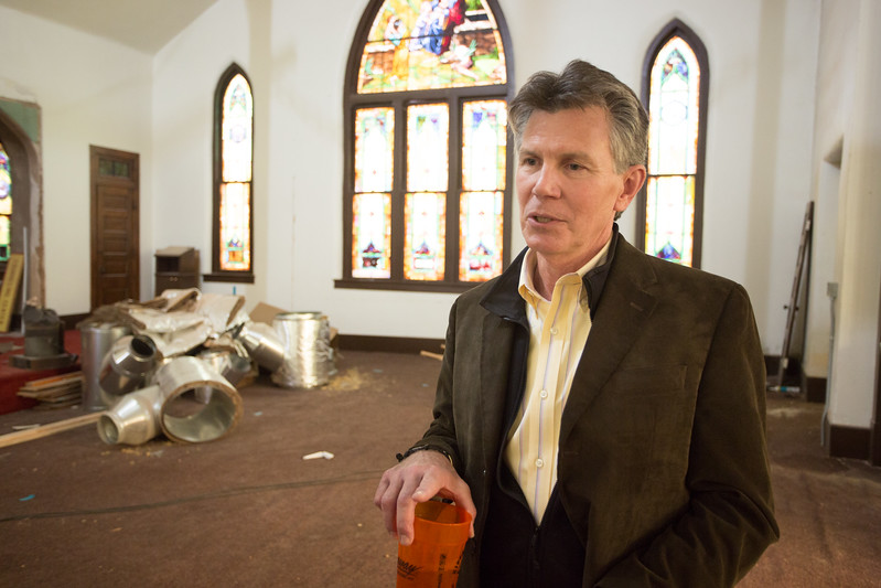 Scott Dedmon, architect and church member at the Midtown Church of the Nazarene located at 701 NW 8th Street in Oklahoma City.