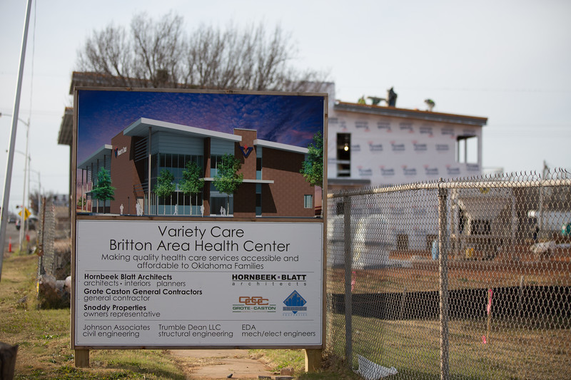 Construction of the new Variety Care Britton Area Health Center located at Classen Blvd and Britton Rd in Oklahoma City.