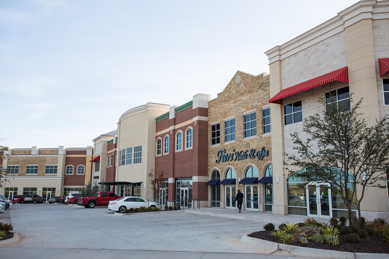 The Shoppes at Quail Sprimgs located on the southwest corner of Memorial Rd and May Ave in Oklahoma City.