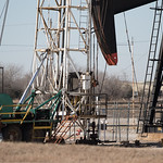 A workover rig located at SE 59th Street and Crossroads Blvd in Oklahoma CIty, OK.