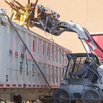 Debris being removed from the former Montgomery Ward location at Plaza Mayor located at 7000 Crossroads Blvd. in Oklahoma City.