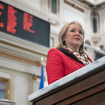Governer Mary Fallin during her annual State of the State address before a joint session at the Oklahoma State Capitol in Oklahoma City, OK.