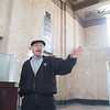 Rick Lueb, prinicipal architech at TAP Architecture, at the Santa Fe train station in Oklahoma City, OK.