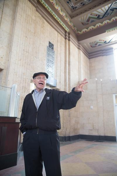 Rick Lueb, prinicipal architech at TAP Architecture, at the Santa Fe train station in Oklahoma City, OK.