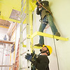 Students in Francis Tuttle Technolgy Center's wind energy program learn maintance on a wind turbin nacell and safty procedures for climbing and rescuing at the schools Portland campus located at 3500 NW 150th St. in Oklahoma City.