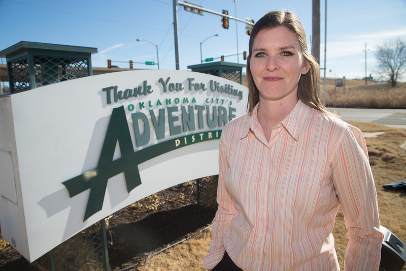Tiffany Batdorf , Manager of Pklahoma City's Adventure District.