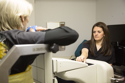 Shanna Burge starts a patients nuclear scan at Southern Plains Medical Group in Chickasha, OK.