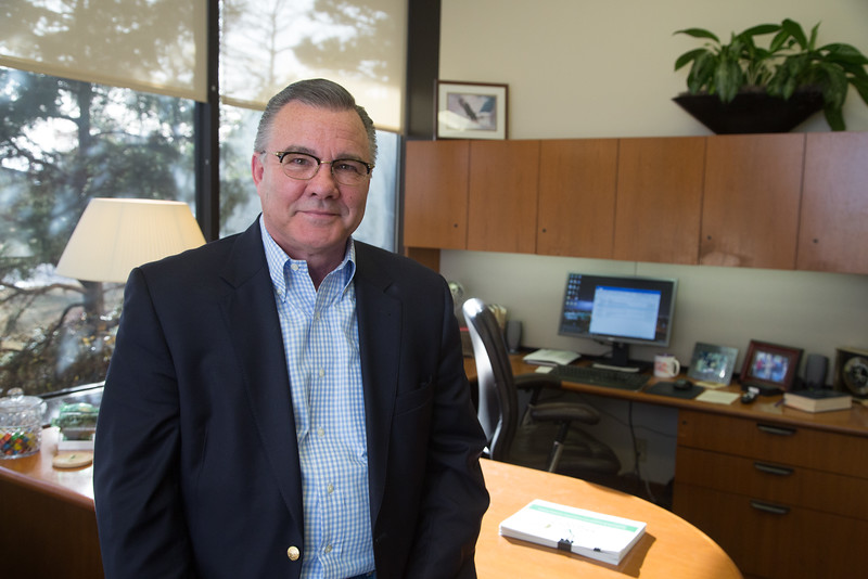 Brad Swickey, president and CEO of Valliance Bank located at 1601 NW Expressway in Oklahoma City.